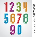 retro numbers set  geometric... | Shutterstock .eps vector #147704381
