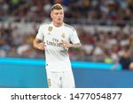 Small photo of Roma (RM), Italy - August 11,2019: Toni Kroos during friendly football match between AS Roma Vs Real Madrid at the Olimpico Stadium in Rome.