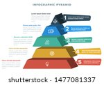 pyramid 3d info chart graphic... | Shutterstock .eps vector #1477081337