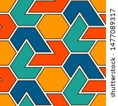 contemporary geometric pattern. ... | Shutterstock .eps vector #1477089317