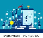business finance and industry.... | Shutterstock .eps vector #1477120127