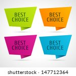 vector best choice message on... | Shutterstock .eps vector #147712364
