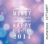 vector merry christmas and... | Shutterstock .eps vector #147716897