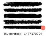 vector set of hand drawn brush... | Shutterstock .eps vector #1477170704