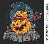 Pumpkin Halloween Devil Artwork ...