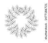 vector hand drawn holly  ilex... | Shutterstock .eps vector #1477186721