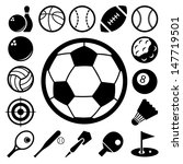 sports icons set.illustration... | Shutterstock .eps vector #147719501