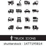 black truck icons.... | Shutterstock .eps vector #1477195814