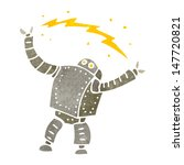 retro cartoon robot | Shutterstock .eps vector #147720821