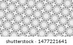 black and white seamless... | Shutterstock . vector #1477221641