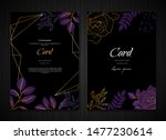 dark black purple floral...   Shutterstock .eps vector #1477230614