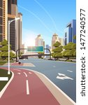 asphalt road with bike cycling... | Shutterstock .eps vector #1477240577