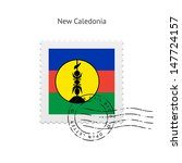 new caledonia flag postage... | Shutterstock .eps vector #147724157