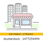 building of small shop or... | Shutterstock .eps vector #1477254494
