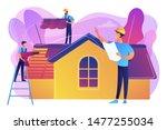 Building Repair. Housetop...