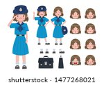 asian student in girl scout... | Shutterstock .eps vector #1477268021