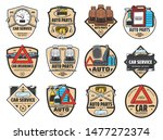 car service vector badges with...   Shutterstock .eps vector #1477272374