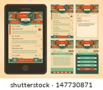 vector retro vintage email... | Shutterstock .eps vector #147730871