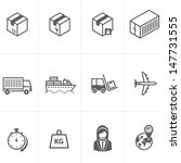 Logistic & delivery & shipping and cargo icons. Vector illustration. - stock vector