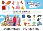 travel to europe composition... | Shutterstock .eps vector #1477326287