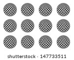 globe texture   black and white ... | Shutterstock .eps vector #147733511