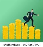 businessman running on low... | Shutterstock .eps vector #1477350497