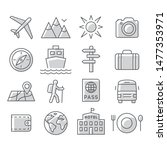 travel and tourism icon set on... | Shutterstock .eps vector #1477353971