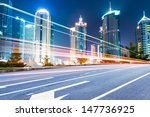 the light trails on the modern... | Shutterstock . vector #147736925