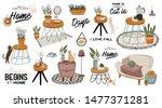 stylish scandic living room... | Shutterstock .eps vector #1477371281