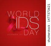 world aids day concept. aids... | Shutterstock .eps vector #1477373621