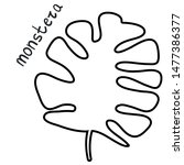 vector monstera leaf. isolated... | Shutterstock .eps vector #1477386377
