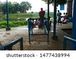 Small photo of Kolkata, West Bengal/INDIA - August 13 2019: Some indian educated and uneducated people playing gambling