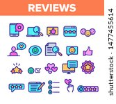 color reviews thin line icons... | Shutterstock .eps vector #1477455614
