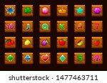big set gaming icons for slot...
