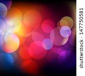 realistic bokeh lights   vector ... | Shutterstock .eps vector #147750581