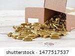 Yellow brass gun ammo spilled...
