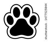 animal paw print dog cat vector ... | Shutterstock .eps vector #1477525844