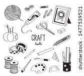 hand drawing styles with craft... | Shutterstock .eps vector #1477539521