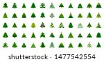 christmas tree flat icon set.... | Shutterstock .eps vector #1477542554
