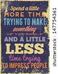 vintage typography vector... | Shutterstock .eps vector #147754361
