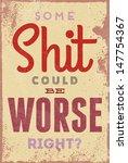 vintage typography vector... | Shutterstock .eps vector #147754367