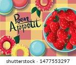 lettering bon appetit.... | Shutterstock . vector #1477553297