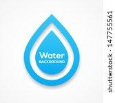 water droplet design background.... | Shutterstock .eps vector #147755561