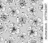 pattern illustration of petunia ...   Shutterstock .eps vector #1477562687