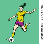 soccer football female player... | Shutterstock .eps vector #147757781