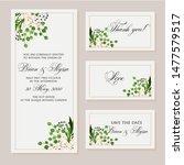 wedding vector floral invite... | Shutterstock .eps vector #1477579517