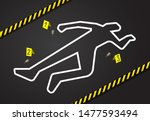 crime scene  do not cross... | Shutterstock .eps vector #1477593494