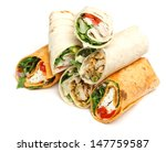 variety of wrap sandwiches with ... | Shutterstock . vector #147759587