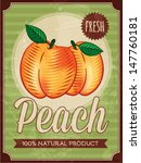 Vector Vintage Styled Peach...