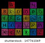 cute colored hand drawn abc in... | Shutterstock .eps vector #147761069